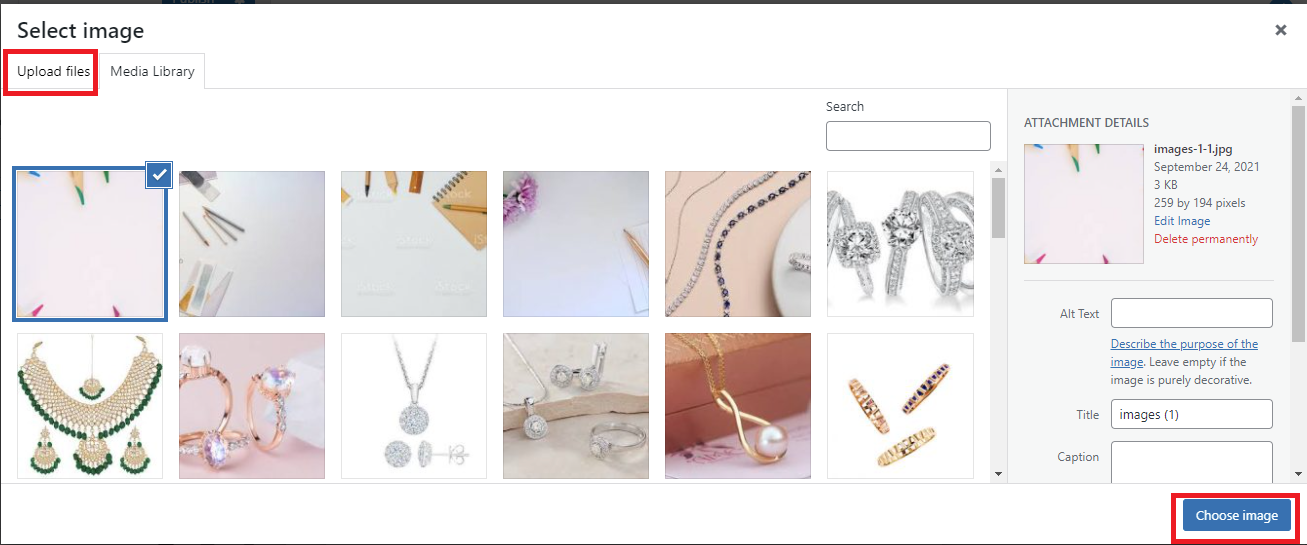 add a background image in WordPress