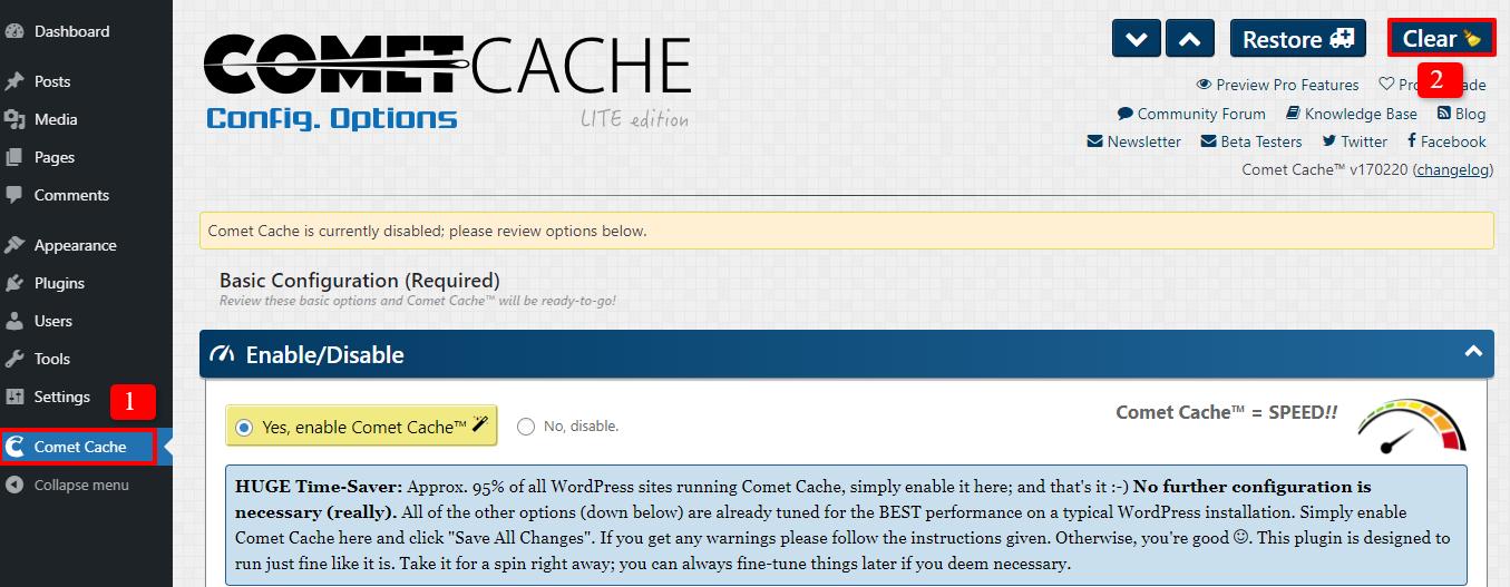 clear cache plugin 3
