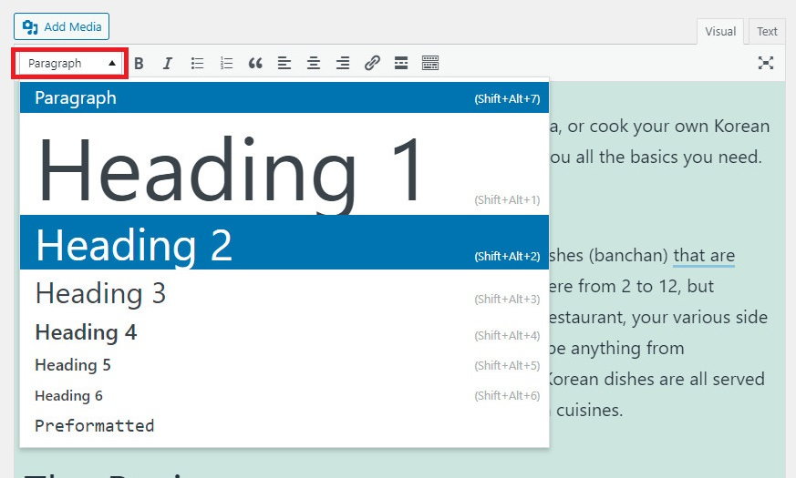 change font size in wordpress in classic editor
