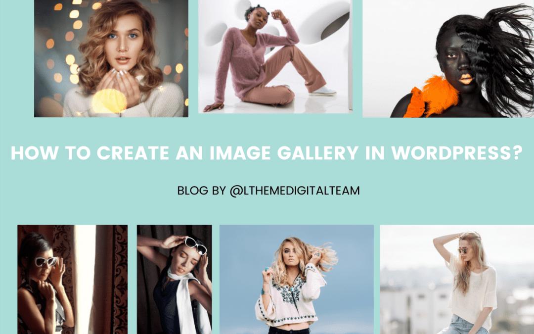 create an image gallery in wordpress