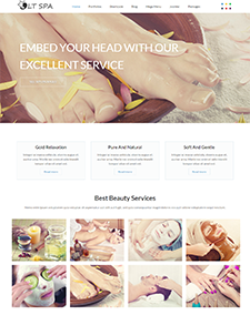 LT Spa – Free Responsive Sauna / Beauty WordPress theme